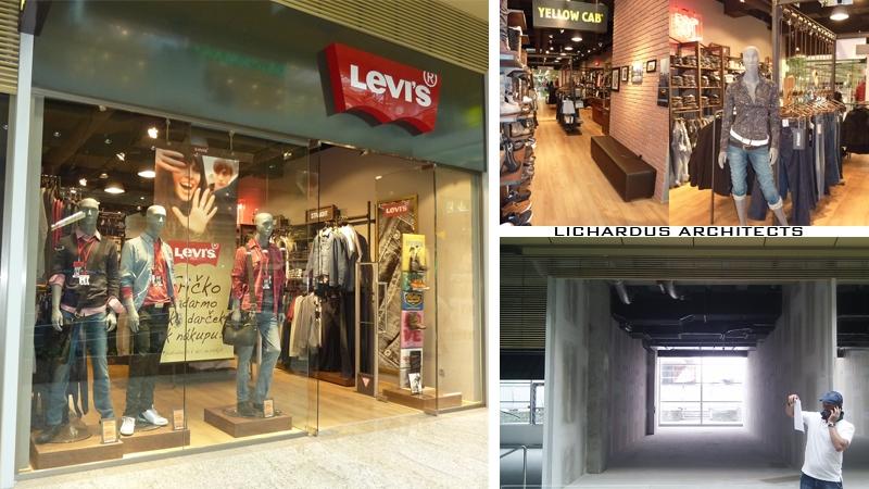 Projekt predajne LEVIS - Žilina - Aupark
